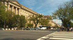 US Politics - traffic on Constitution Ave Federal triangle Stock Footage