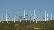 Wind Farm Turbines Stock Footage