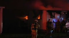 Mobile home fire LFR#15 Stock Footage
