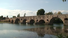 Pont Vieux in Beziers, France Stock Footage