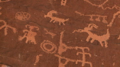 Petroglyphs Stock Footage