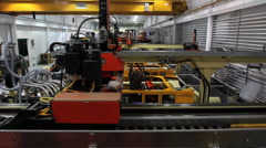 Factory Robotics Crane Shot - stock footage