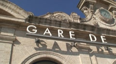 Sete Train Station Sign Stock Footage