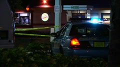 police car and crime scene - stock footage