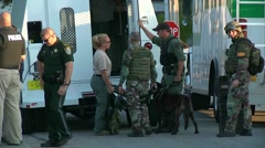 swat team and bomb squad - stock footage