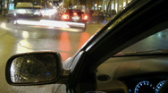 Driving a car POV + Aerial view of night city street traffic time lapse  Stock Footage