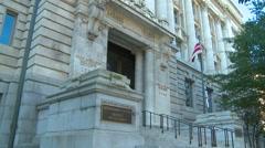 US Politics - Wash DC City hall Stock Footage