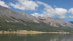 Mountain lake Khoton Nuur in Mongolian Altai Stock Footage