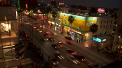 Traffic Hollywood and Highland LA WIDE - stock footage