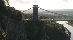 Clifton Suspension Bridge and Gorge Stock Footage