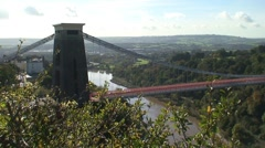Clifton Suspension Bridge near Bristol Stock Footage