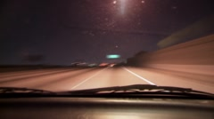 Car ride in to LA on LSD - stock footage