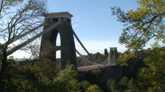 Clifton Suspension Bridge Stock Footage