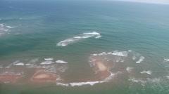 Sandbar Schools Fish 2 Aerial Stock Footage