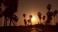 Stock Video Footage of Santa Monica Sunrise