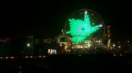 Santa Monica Ferris wheel Stock Footage