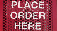 Stock Video Footage of Place order here drive thru menu talk box