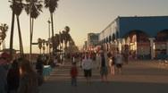 Venice Boardwalk  Stock Footage