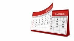 Year 2011 calendar Stock Footage