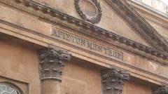 Roman Baths Building Stock Footage