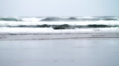 Stormy Seas Canon Beach Footage  Stock Footage