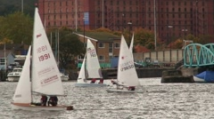 Sail Boats on River Avon Stock Footage