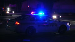 2 police cars on traffic stop - stock footage
