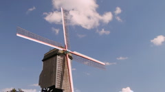 Brugge Windmill Stock Footage