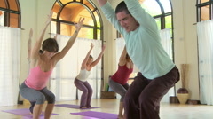 Yoga Class Stock Footage