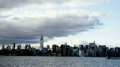 Manhattan from Brooklyn - stock footage