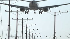 Airplane landing HD 1080p - stock footage