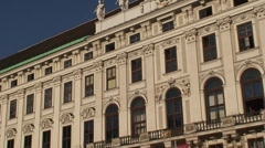 Statue Within Hofburg in Vienna Stock Footage