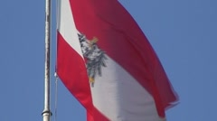 Flag of Austria in Wind Stock Footage
