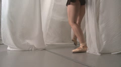 Backstage Ballet Stock Footage