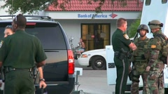 Bank robbery/bomb scare #1 Stock Footage