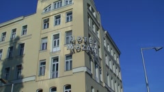 Hotel Mozart in Vienna Stock Footage