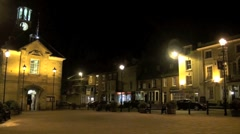 Brackley Town Hall at Night - stock footage