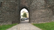 Stock Video Footage of Medieval Castle Gate