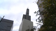 American Icons #6 Chicago (Sears) Willis tower, angle Stock Footage
