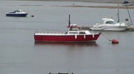 Stock Video Footage of Boat Moored on River Conwy