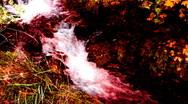 Horror waterfall  Stock Footage