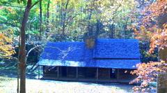 Historical mountain cabin autumn 02 Stock Footage