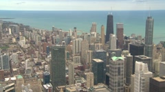 American Icons #2 aerial Chicago, downtown Stock Footage