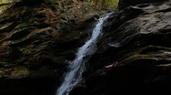Waterfall in Hanging Rock State Park in North Carolina Stock Footage