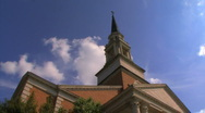 Church Steeple w Clouds timelapse Stock Footage