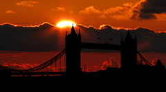 London tower bridge 01 - stock footage