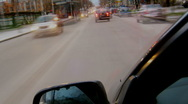 Driving a car day to night timelapse video Stock Footage