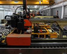 Factory Robotics Crane Shot Stock Footage