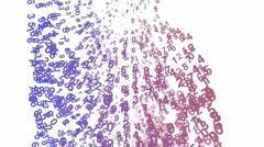Digital Matrix,group of number,finance digital background.Dimension,extradimensi Stock Footage