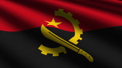 Angola flag close up - stock footage